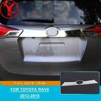 2013-2015 abs chrome porta da cauda capa para toyota rav 4 rav4 2013 2014 2015 tronco guarnição acessórios do carro para toyota rav4 2013 ycsunz