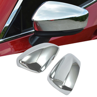For Mazda 3 M3 Axela 2017 2018 ABS Chrome Exterior Rear View Rearview Mirror Cover Protector Panel Trim Stickers