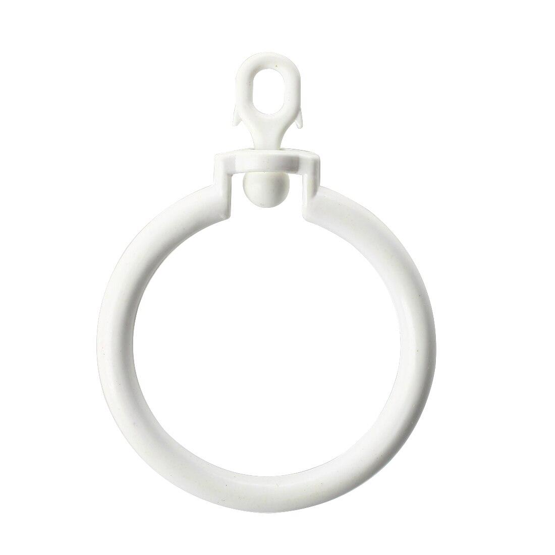 MYLB-3 PCS Curtain Rod Rings with Eyelets White
