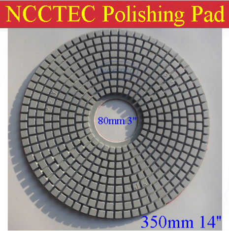 14'' 350mm big Diamond Polishing pad | Terrazzo granite concrete Grinding machine use | grit 150# 300# 500# 1000# 2000# 3000# vibration type pneumatic sanding machine rectangle grinding machine sand vibration machine polishing machine 70x100mm