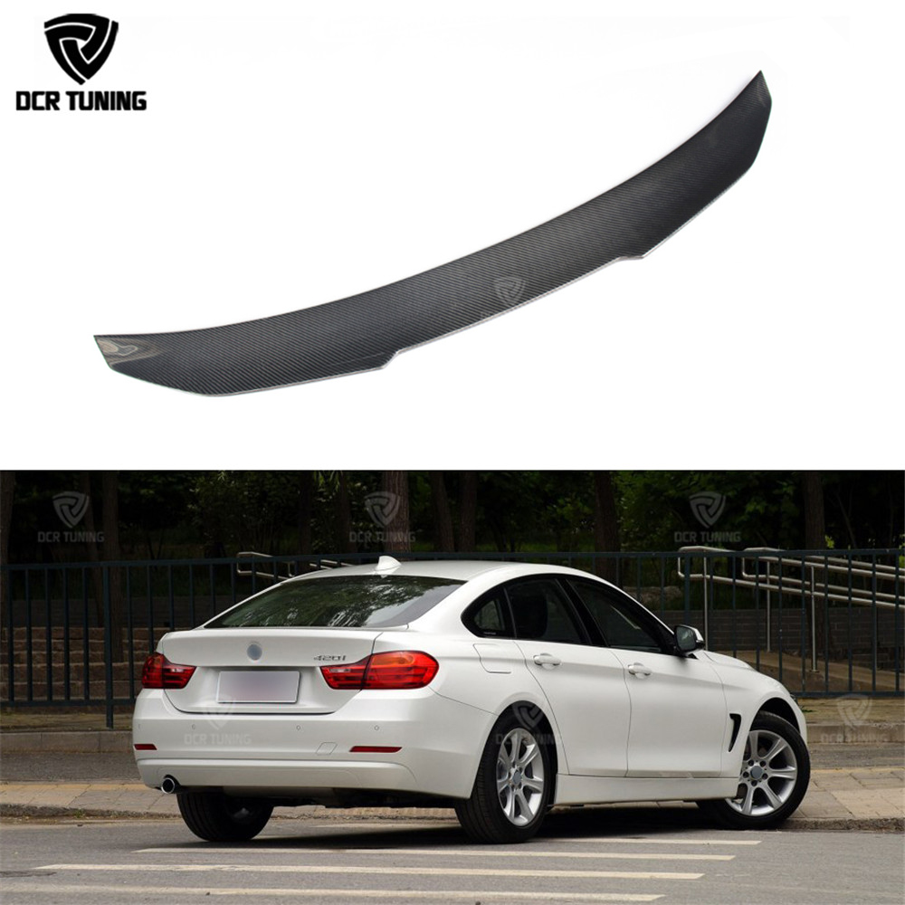 For BMW F36 Carbon Rear Spoiler PSM Style 4 Series 4 Door Gran Coupe Carbon Spoiler 2014 2015 2016 - UP 420i 420d 428i 435i bmw 435i 四 門