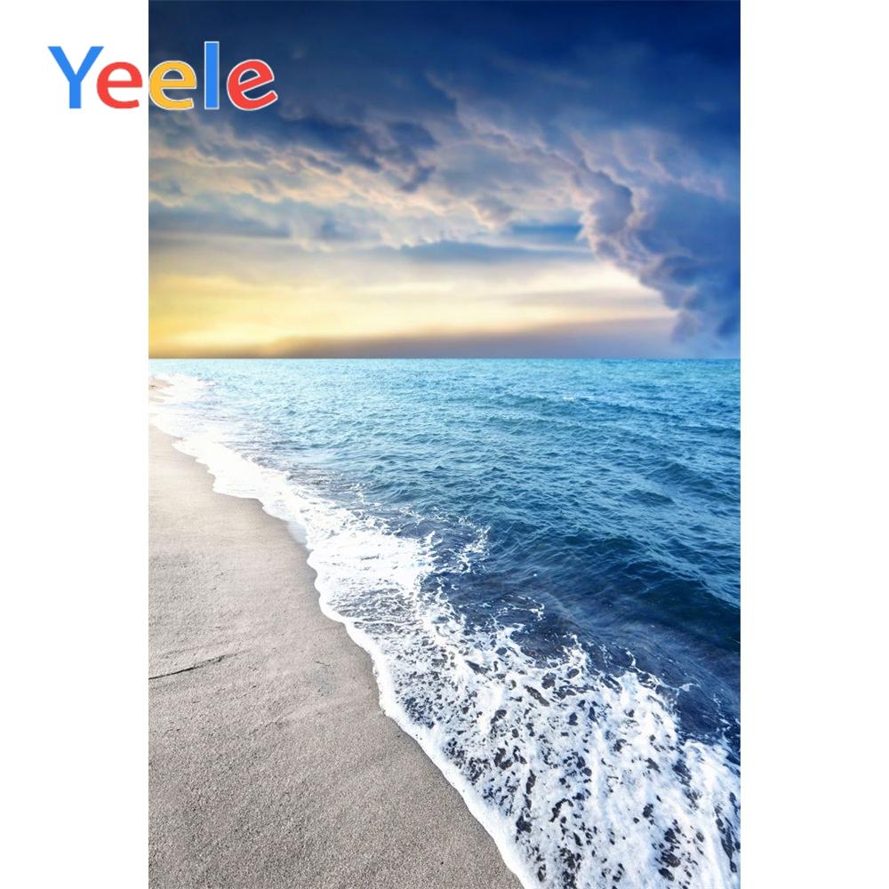 Yeele Tropical View Seaside Waves Cloud Wedding Portrait Photography Backdrops Summer Photographic Backgrounds For Photo Studio in Background from Consumer Electronics