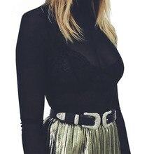 2017 Hot Fashion Women Lady Vintage Boho Metal Leather Double Buckle Waist Belt Waistband