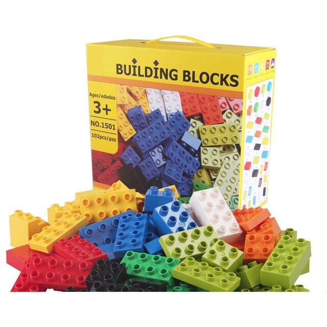 102pcs Diy Duploed Building Blocks อิฐสร้างสรรค์ด้วยการศึกษาของเล่นเด็กคริสต์มาสของขวัญ