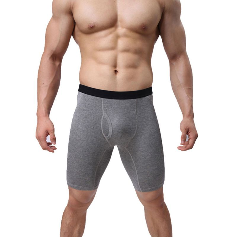 Mens Plus Size Quick Dry Athletic Compression Shorts Underwear Mid-Rise Breathable Cotton Boxer Briefs Sport Baselayer Tights