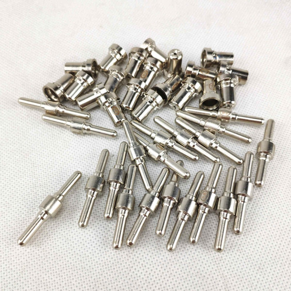40pcs Plasma Cutting Torch Consumable Cutting Extended Long Plasma Cutter Kit 40A PT31 Plasma Torch Tip Electrode Nozzle