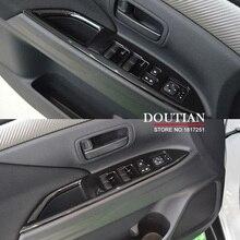 Dla Mitsubishi Outlander 2016 2017 rama sterowania podnośnikiem szyby ozdoby na włącznik panelu podłokietnika tapicerka akcesoria do wnętrza samochodu