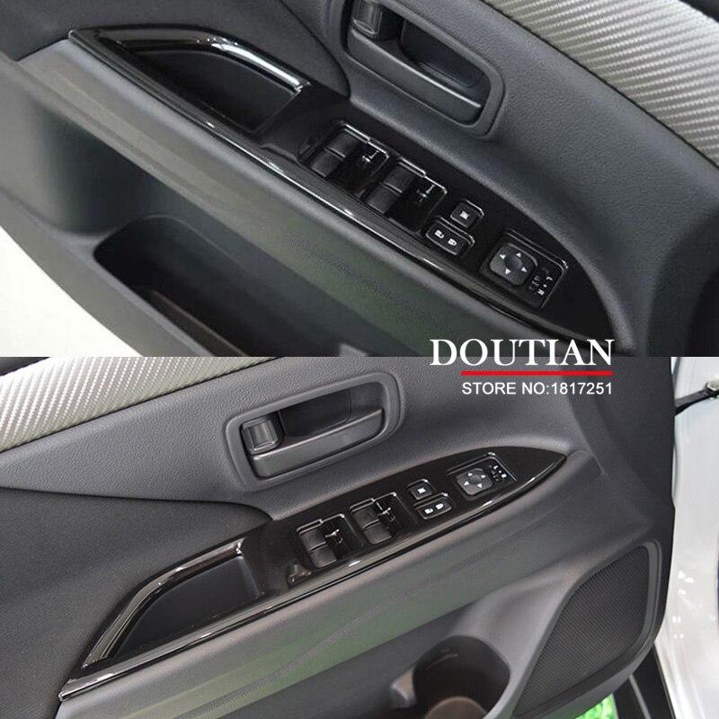 For Mitsubishi Outlander 2016 2017 Window Lifter Control Frame Window Switch Decor Armrest Panel Trim car Interior accessories for kia sportage ql 2016 2017 lhd car door armrest panel window switch lift buttons covers trim interior decoration accessories