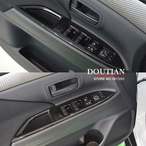 Image 1 - Pour Mitsubishi Outlander 2016 2017 lève vitre cadre de commande fenêtre interrupteur décor accoudoir panneau garniture voiture intérieur accessoires