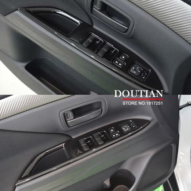 Pour Mitsubishi Outlander 2016 2017 lève vitre cadre de commande fenêtre interrupteur décor accoudoir panneau garniture voiture intérieur accessoires