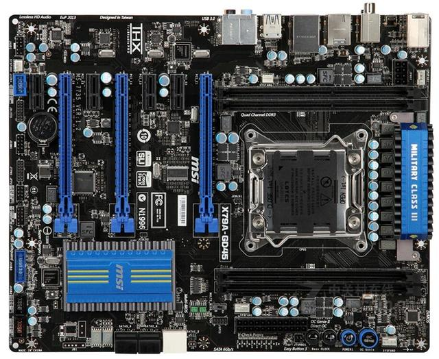 Used Original for MSI X79A-GD45 DDR3 PCI-E 3.0 USB3 SATA3 X79 2011 Motherboard Support I7 4820K 3820