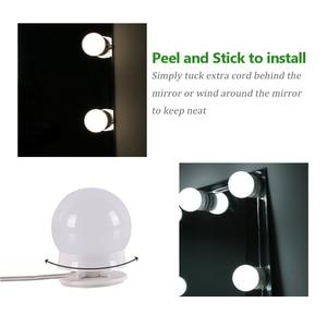 Image 5 - 10 個化粧鏡化粧台の Led 電球ランプキット 3 レベル輝度調整可能な点灯は、ミラーメイクアップ化粧品ライト