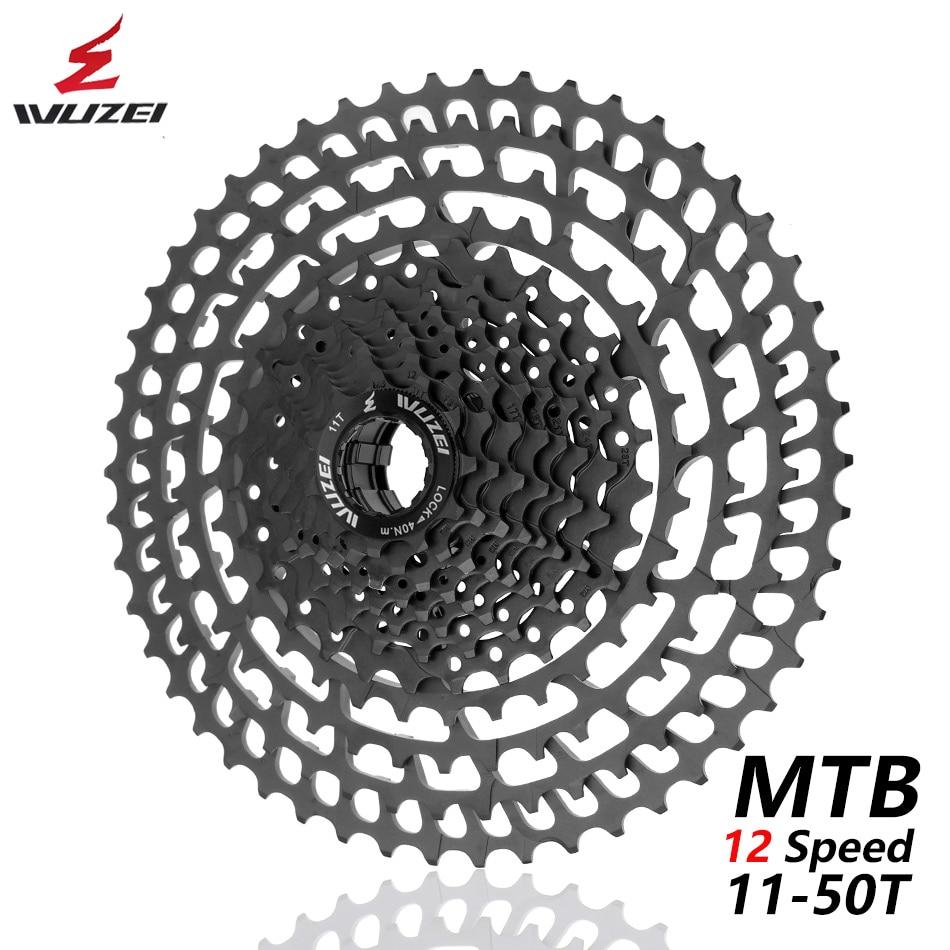 MTB 12 Speed Cassette Bicycle Freewheel 11-50T CNC 403g Cassette Ultralight Flywheel 12 speed velocidadeMTB 12 Speed Cassette Bicycle Freewheel 11-50T CNC 403g Cassette Ultralight Flywheel 12 speed velocidade