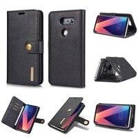 DG MING Luxury Genuine Leather Case For LG V30 Flip Magnetic Cover Wallet Phone Bag 2