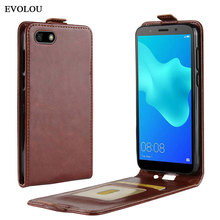 Vertical Flip Leather Cover for Huawei Y5 2018 Case UP Down Phone DRA-L22 DRA-L02 Protective Bag