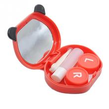 Plastic Contact Lens Storage Box Case for Eyes Care Kit Cartoon Panda Candy Color Contact Lens Box Case 76*63*21mm