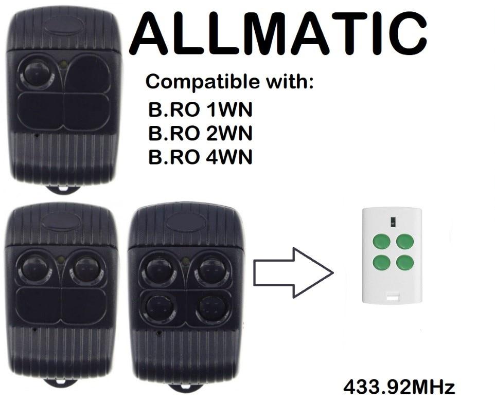 ALLMATIC  BRO1WN, BRO 2WN, BRO4WN Compatible Remote control Rolling codeALLMATIC  BRO1WN, BRO 2WN, BRO4WN Compatible Remote control Rolling code
