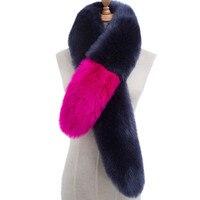 Mujeres invierno falso Pieles de animales hit color felpa señoras bufanda caliente suave bufandas mantón de lujo moda Cuero no original abrigo femenino alta calidad