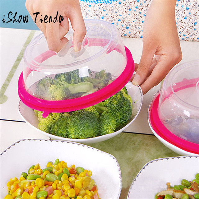 Ishowtienda 2018 Hot Microwave Food Cover Plate Vented Splatter Protector Clear Kitchen Lid Safe Vent Microwave Cover 0122 In Cookware Lids From Home