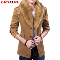 LONMMY M-3XL Winter jacket men Fur collar male trench coat Fashion Long style Casual wool coat jacket New 2016 Wool Blends