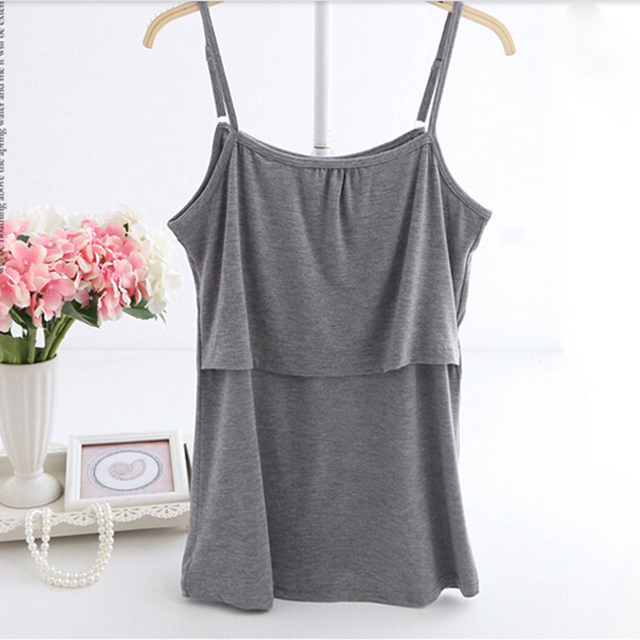 Fashion Maternity Tops Comfortable Modal Nursing Top Breastfeeding Tops / Tees for Pregnant Women 2 Colors Free Shipping
