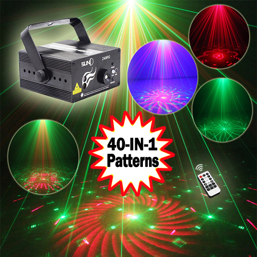 SUNY 3 Lens 40 Patterns RG Mini Laser Light Show Blue LED Stage Lighting Effect Home Party DJ Disco Light With IR Remote disco ball mini laser stage lighting 3w led stage light rgb party light mini laser lighting home entertainment dual function