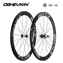 Новые карбоновые дорожные колеса 50 мм клинчерная велосипедная шина дорожная колесная ширина 25 мм 3 к Саржевые дорожные карбоновые велосипедные колёса OG-EVKIN