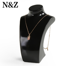 1pc 5*6*16CM Women Lady Girl Black Plastic Pendant Necklace Display Pedestal Jewelry Chain Display Holder Bust Stand Show