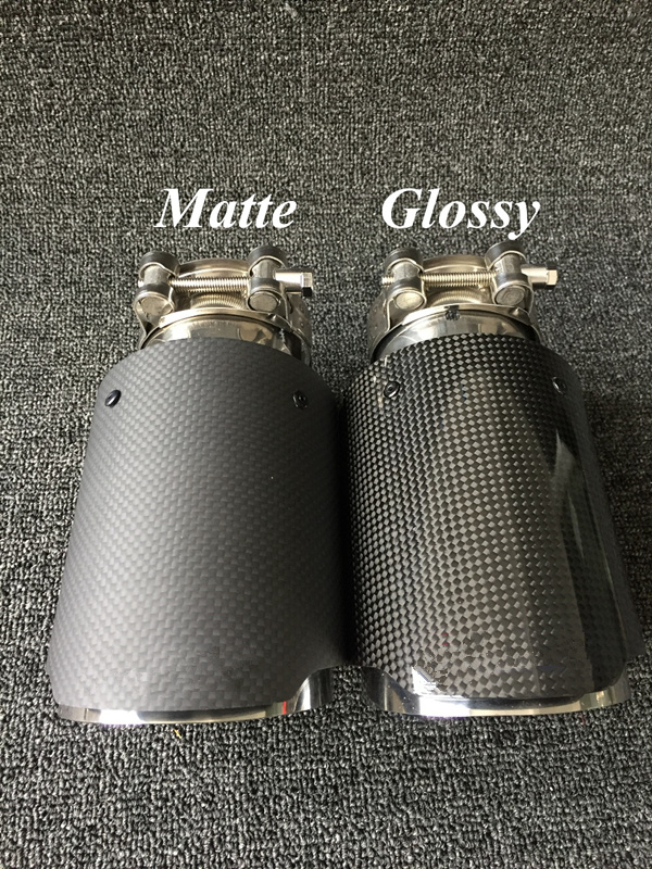 Car Glossy//Matte Random Modified Real Carbon Fiber Exhaust Muffler Pipe 63-101mm