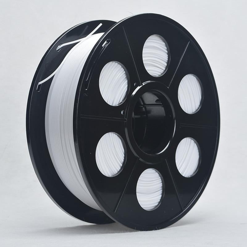 3D Printer ABS Filament 3mm 1kg Spool for 3D Printing No bubble About 135m White Color Tolerance 0.02mm For MakerBot RepRap UP 3d printer filament 1 75mm 3mm abs conductive color change pa nylon flexible 1kg 2 2lb for reprap markerbot