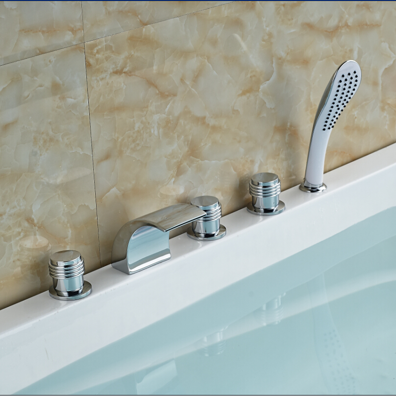 New Promotion High-end Bathroom Mixer Faucet Shower Water Taps Chrome Finish emoshire promotion high end exhibition
