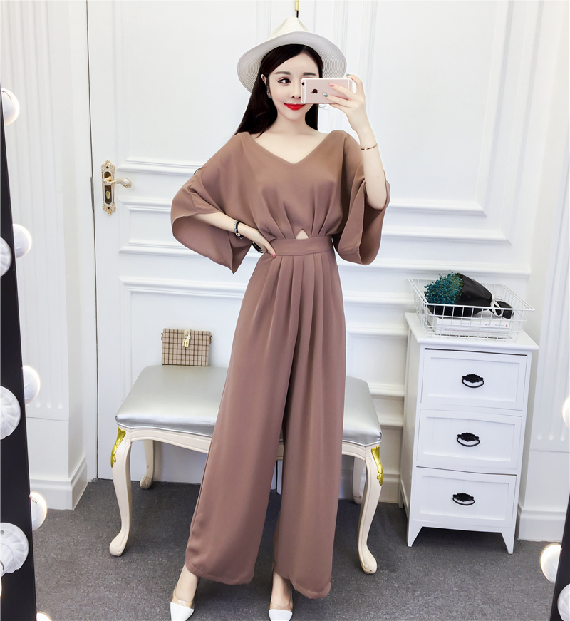 High Waist Wide Leg Pants Rompers Womens Jumpsuit Fashion Thin Office Lady Jumpsuits For Women Temperament Clothes For Women ...