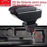 Car Styling Car Armrest Box Center Console Storage Box Holder Case For Skoda Octavia 2007 2014 Yeti 2014 2017 Auto Accessories