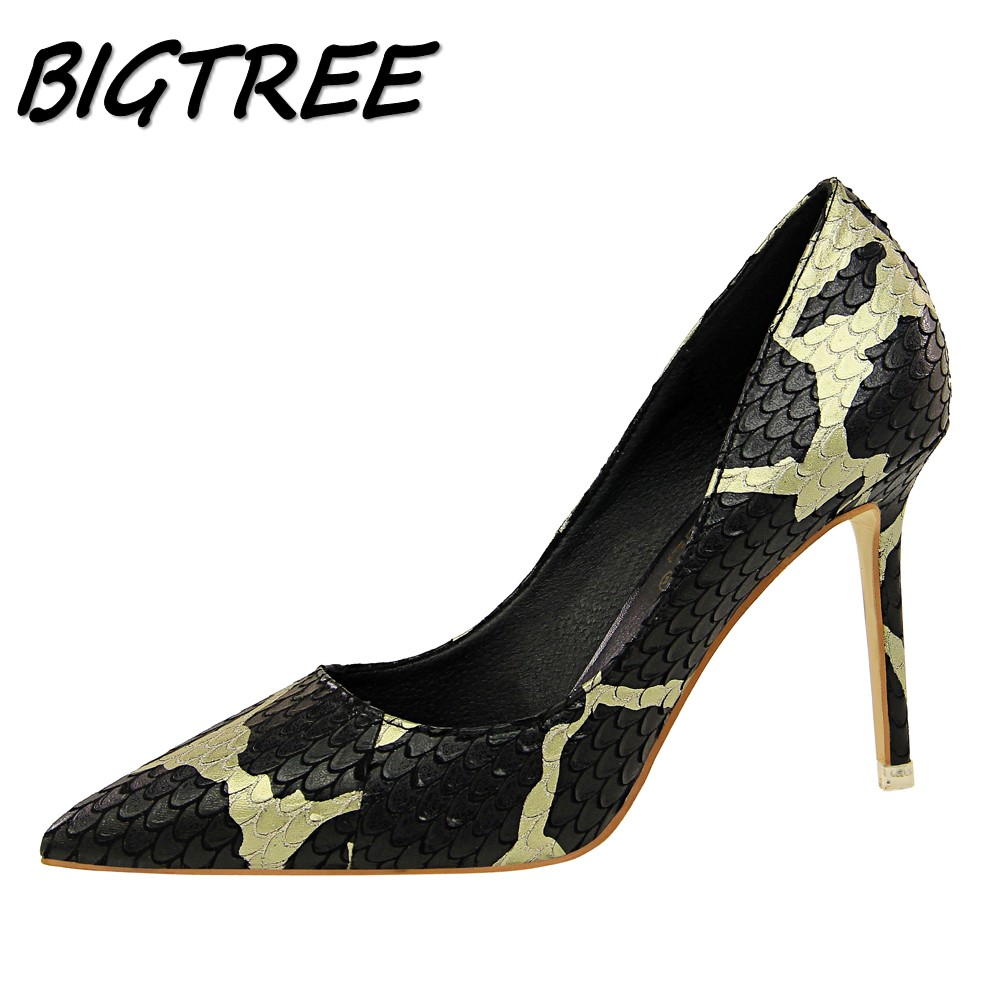 BIGTREE Women Pointed Toe High Heels Shoes Woman Pumps Ladies Fashion sexy Wedding Party Mixed colors
