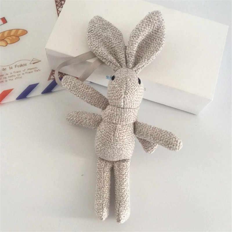 Kawaii chaveiro De Coelho de Pelúcia Animais De Pelúcia De Algodão de Linho Saco Carro Pequeno Pingente de Bouquet Plush Dolls Bonito do Coelho da Orelha Presentes Brinquedos