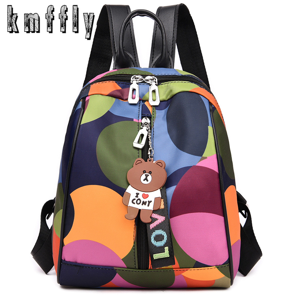 Women Backpack Rucksack School-Bags Teenagers Mochilas-Feminina Waterproof Oxford Zipper