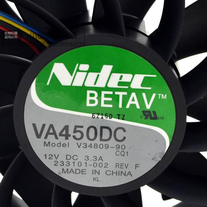 Free Shipping Nidec VA450DC V34809-90 CQ1 Super strong 12V 3.3A 12CM 120mm axial server inverter cpu computer cooling fans original for nidec ta550dc a34885 90 14070 12v 5 0a server cooling fans