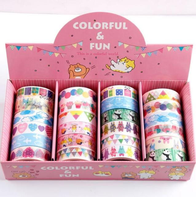 24 pcs/lot 1.5*0.5 cm Colorful Celebrate Funny Cartoon (24 ชิ้น)