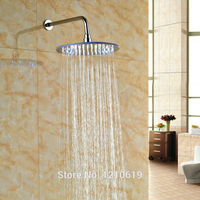 Newly Chrome Finish Rainfall Top Shower Head w/ Shower Arm LED Color Changing 12