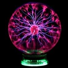 Novidade Magia Bola De Plasma de Vidro Mesa de Luz 3 4 5 6 polegada Esfera luzes Nightlight Caçoa o Presente Para O Ano Novo Noite Lâmpada De Plasma Magia