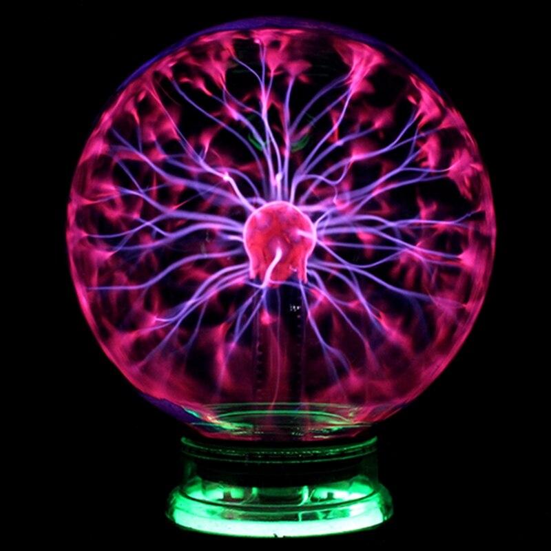Vidrio novedad Bola de Plasma mágica luz 3 4 5 6 pulgadas Mesa esfera Nightlight niños regalo para el Año Nuevo plasma mágica noche lámpara