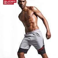 SUPERBODY Brand Clothing 100 Cotton Men S Jogger Short Athletic Men S Sports Running Shorts Gym