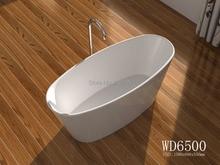 1580x680x550mm Solid Surface Stone CUPC Approval Bathtub Oval Freestanding Corian Matt white Finishing Tub RS6500