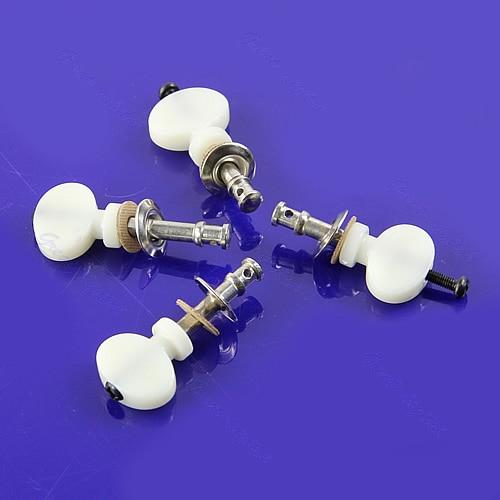 3sets(12pcs)/lot White Ukulele Strings Tuning Pegs Pin Machines Tuners Friction Ukelele