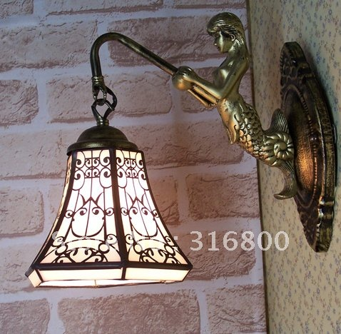 Фотография Simple bedside wall lamp beauty of Tiffany lamps fish balcony foyer lighting bathroom mirror front lamps modern