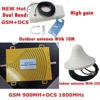 1 set High gain Mini Dual band signal booster GSM 900 1800 home/office SIGNAL repeater kit amplifier signal bar Signal amplifier