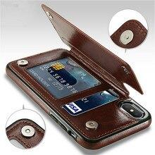 e592b67be2e Ranura para tarjeta titular de la cubierta del caso para iPhone 8 7 6 6 S