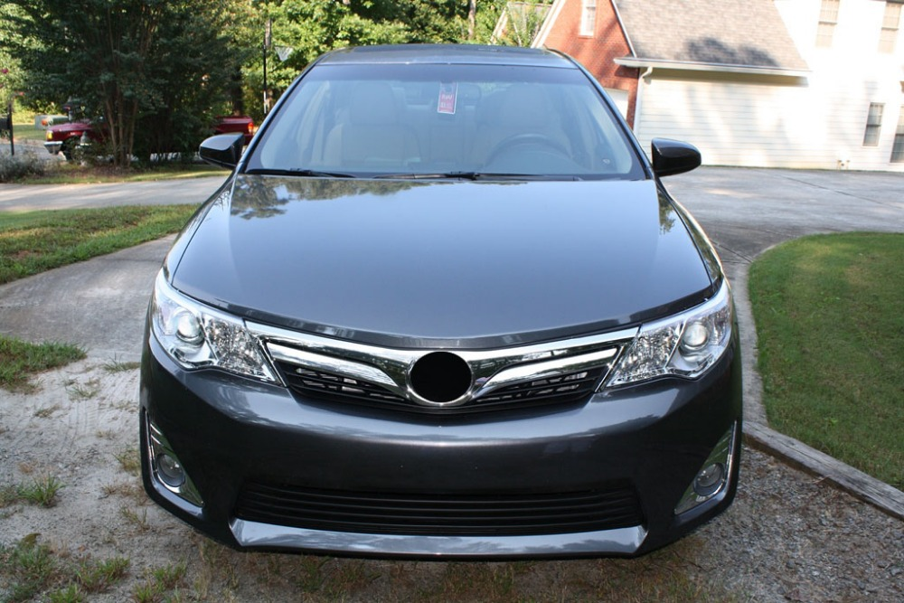 1pc front grille around trim racing grills trim for 2012 2014 toyota camry xle asv50 grille car styling