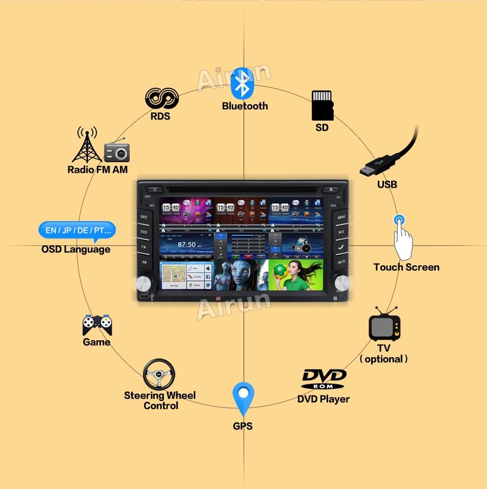 Auto DVD speler GPS Radio Bluetooth 2 din universeel voor X-TRAIL - Auto-elektronica - Foto 3