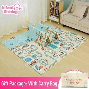 Image 1 - תינוקות הניצוץ הפיך תינוק לשחק מחצלת קריקטורה רך מחצלת גדול גודל 180*200*1CM מעובה ילדים שטיח משחק Pad Playmat לילדים